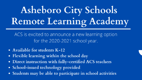 ACS Announces Remote Learning Academy for 2020-2021 School Year