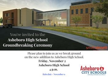 Asheboro High School Hosts Groundbreaking Ceremony