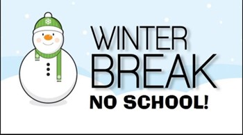 Winter break announcement with no school