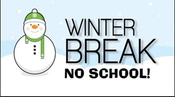 Winter break announcement with no school