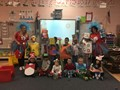 Mrs. Beck's Kindergarten class celebrating character day