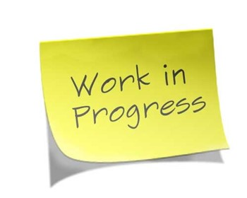 "Sticky note to say ""Work in Progress"""