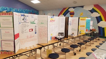 Science Fair Projects from the cafeteria