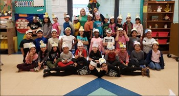 Students and teachers dressed up for Figurative Language Friday