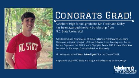 AHS Graduate Accepts Park Scholarship