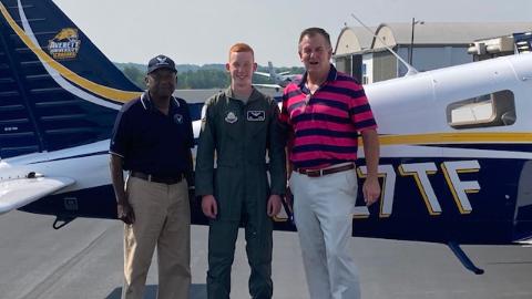 Lt. Col. Luke Hurley Earns Private Pilots License
