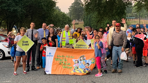 ACS Participates in International Walk to School Day