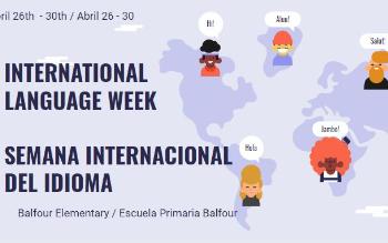 title page of international language week