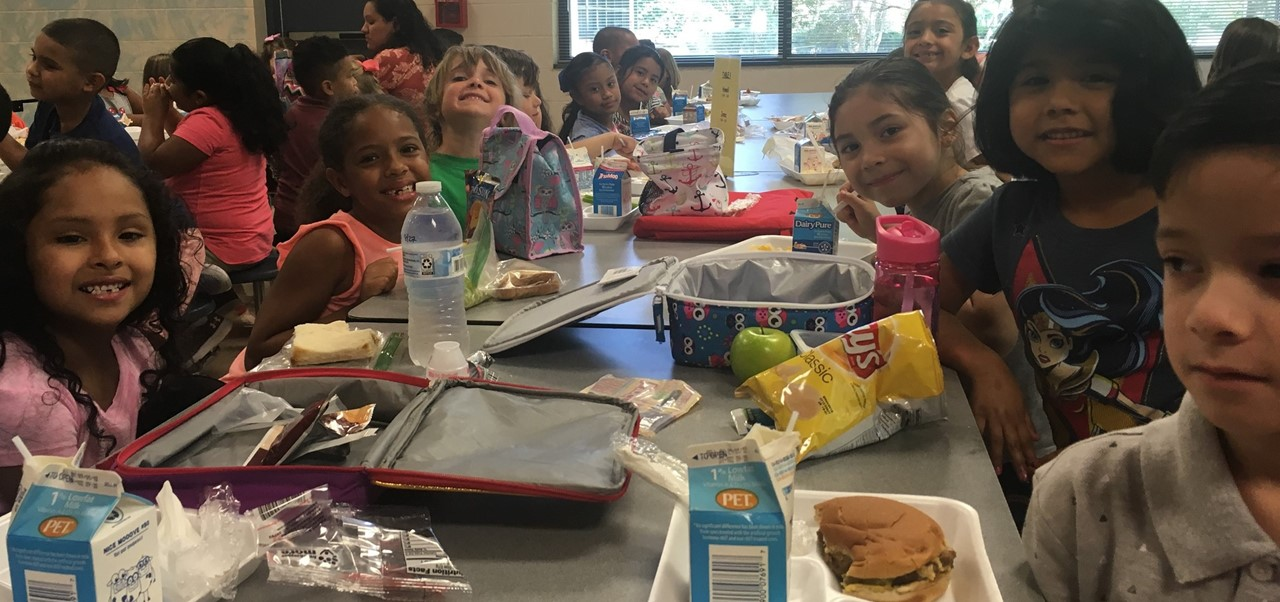Children eating at lunch
