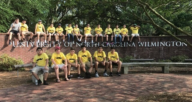 The Mustache Fraternity from North Asheboro Middle School tours college campuses statewide.