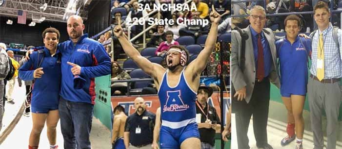 Student became our new state wrestling champ.