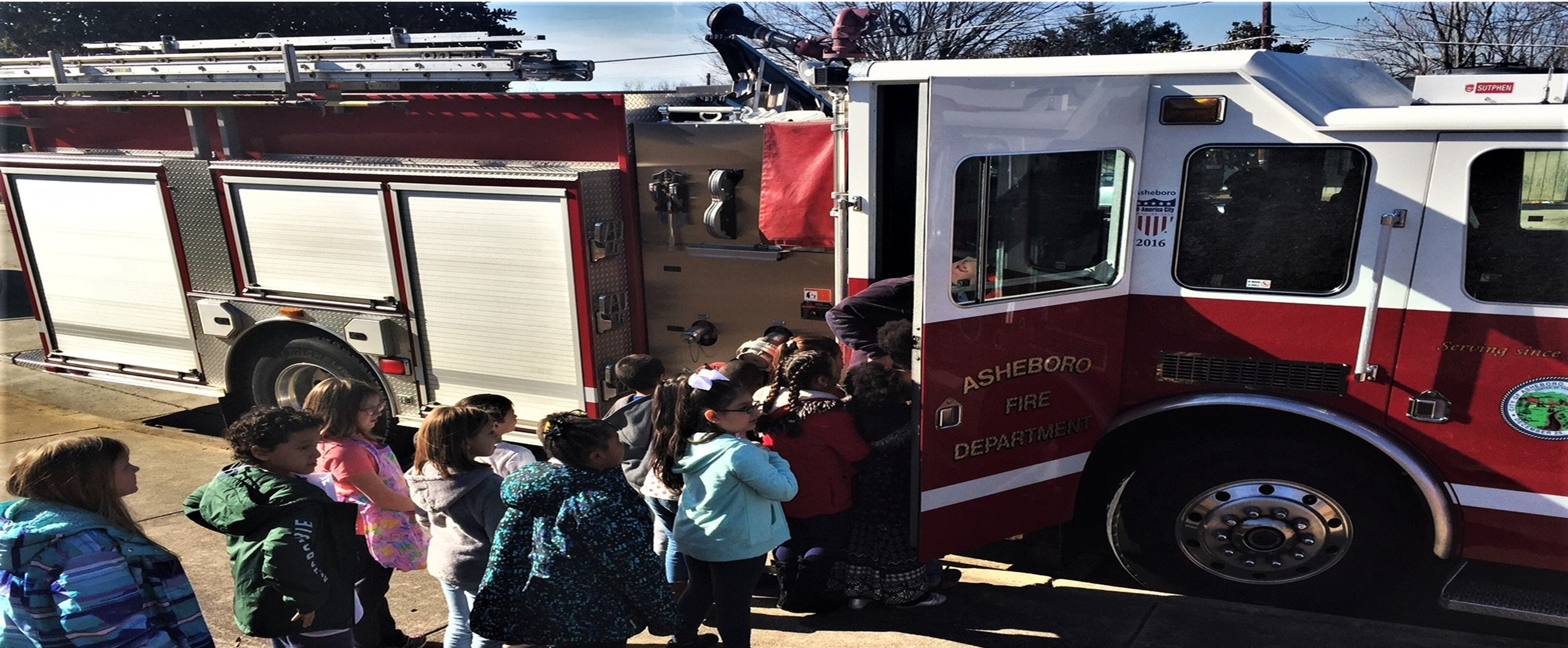 Career Day fire department visits