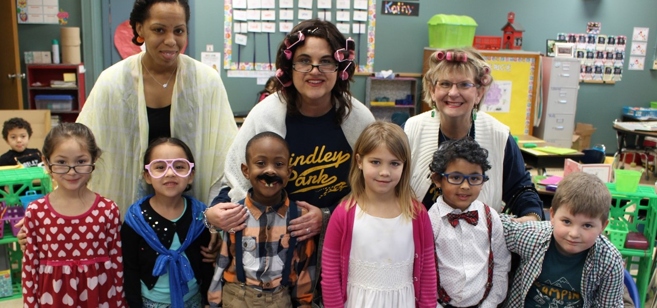 Kindergarten celebrating 100 days of school
