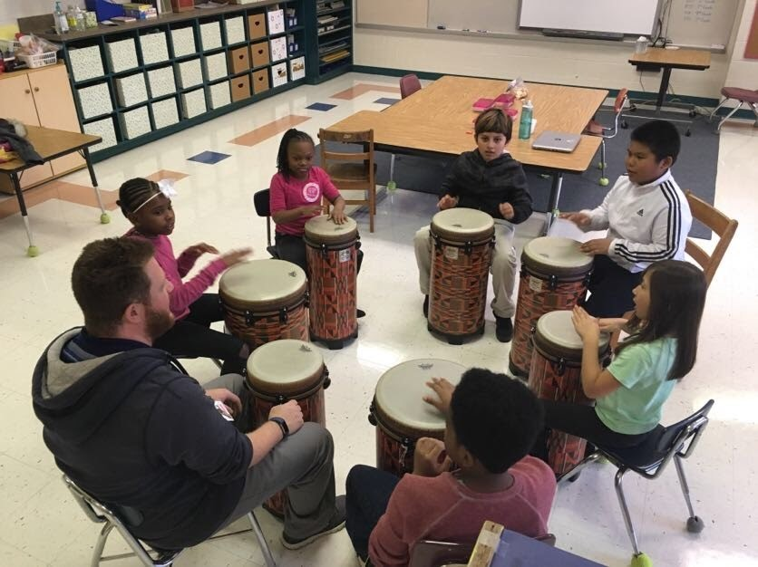 After School Drumming Club with Mr. Gordy at DLL