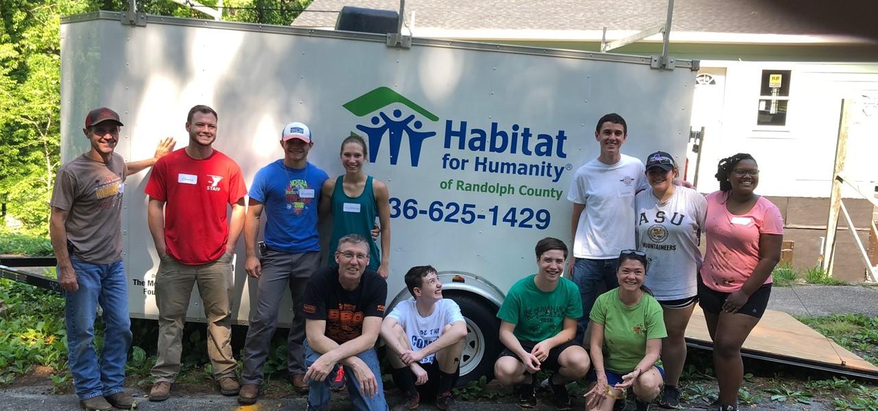 Students volunteering in community