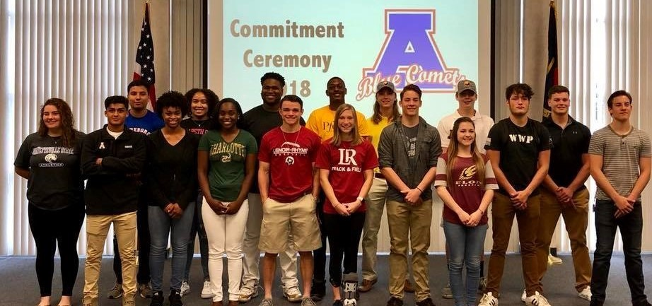 Student athlete commitment ceremony