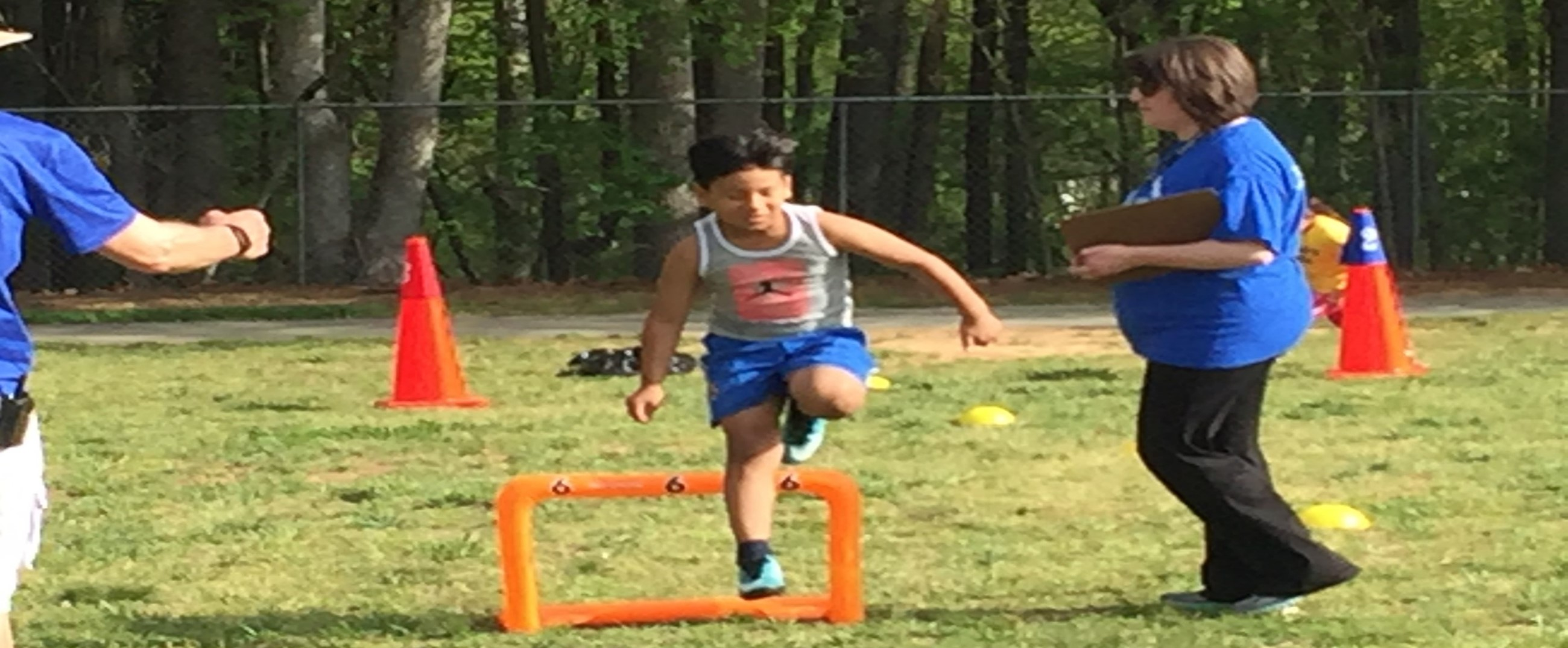 CWM Field Day 2nd grade hurdles