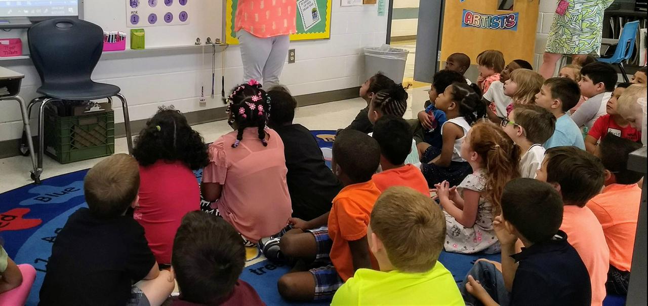 Kindergarten Students in Art Class