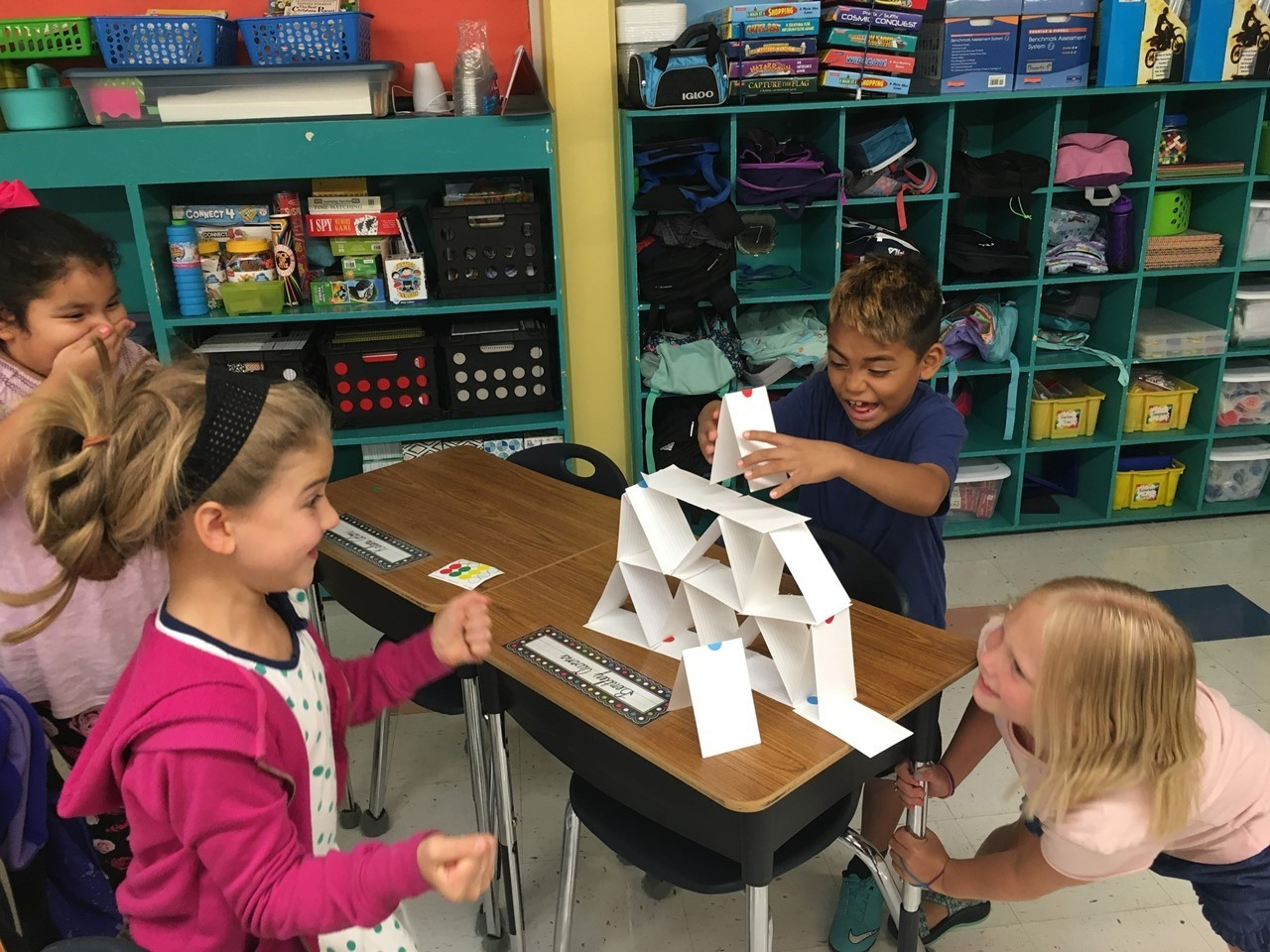 Third Graders participating in STEM activity
