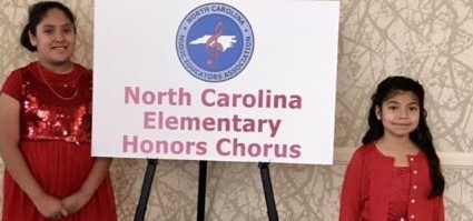 Greidys and Bryanna participating in the NC Honors Chorus