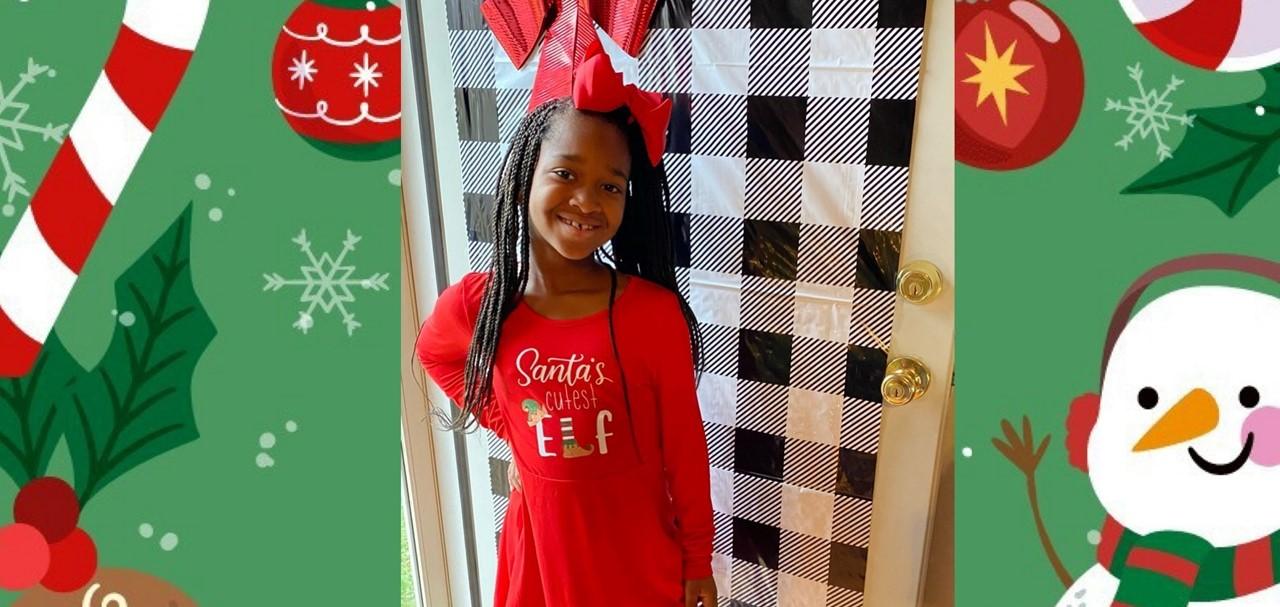 2nd Grade Girl at Christmas