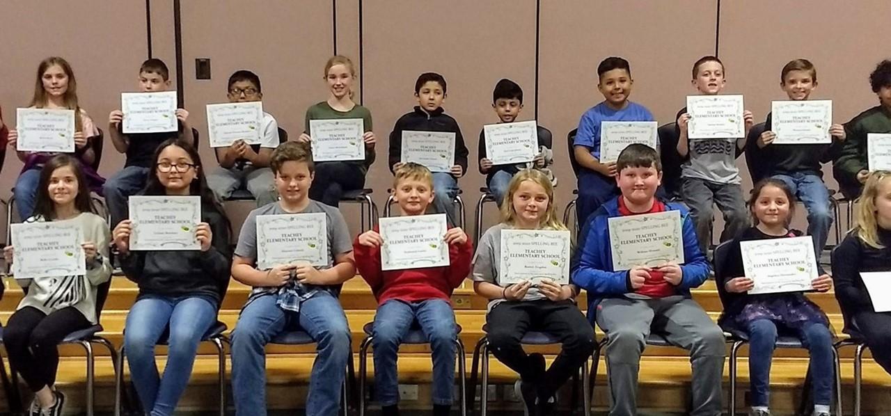 2020 Spelling Bee Classroom Winners