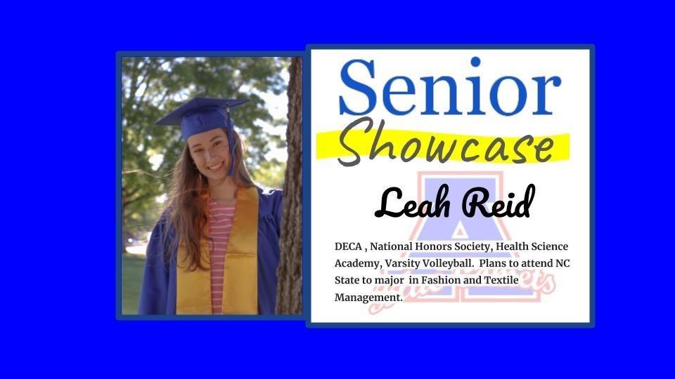 Senior Showcase Leah Reid
