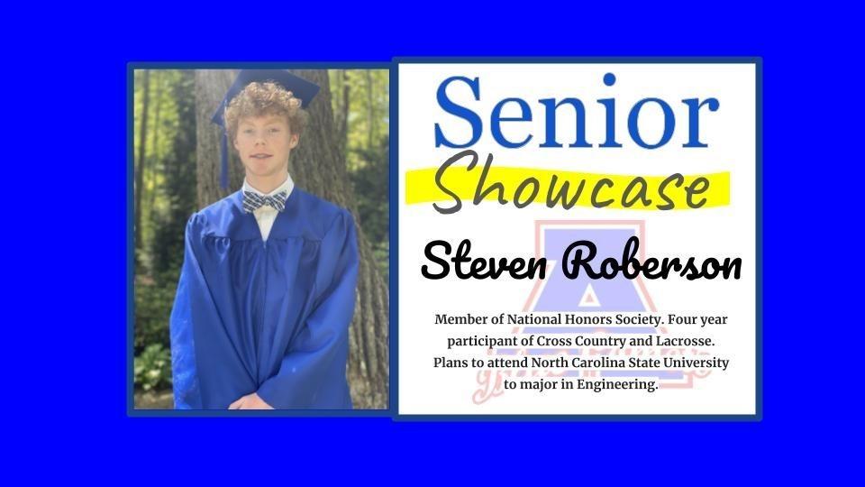 Senior Showcase Steven Roberson