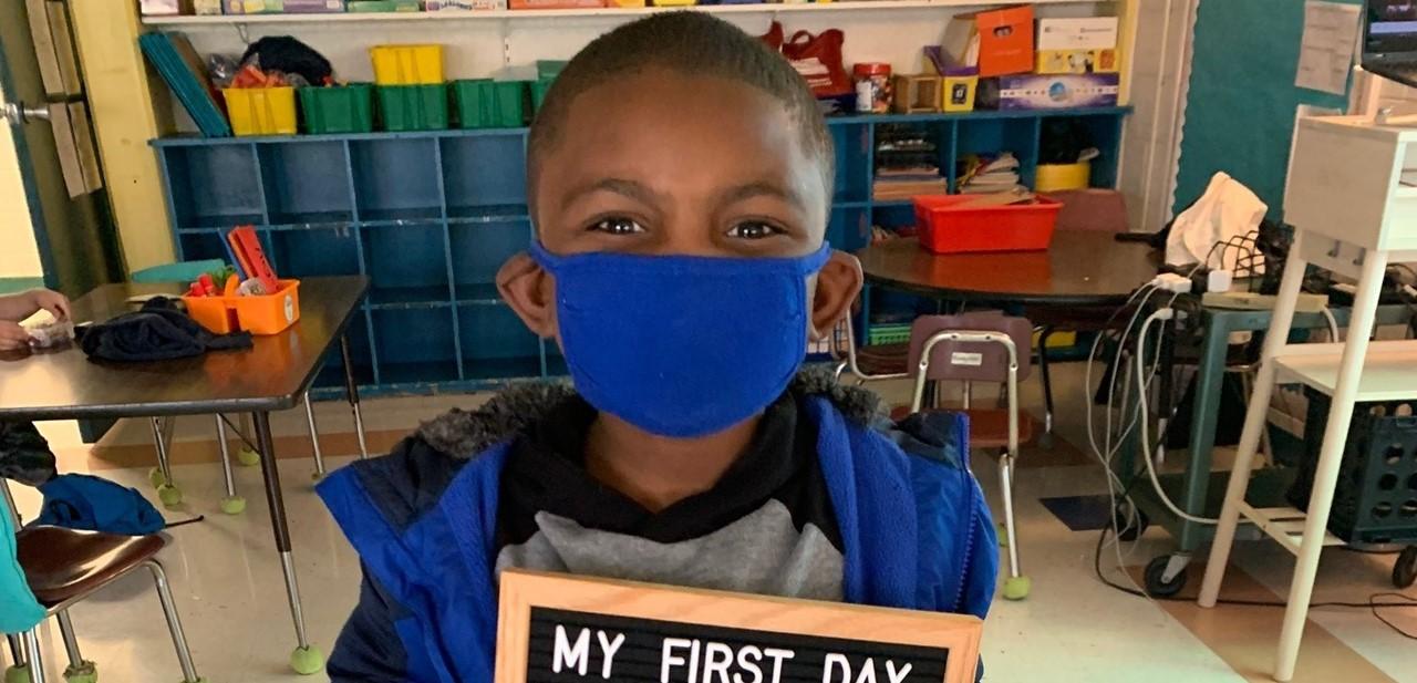First grader on Plan A