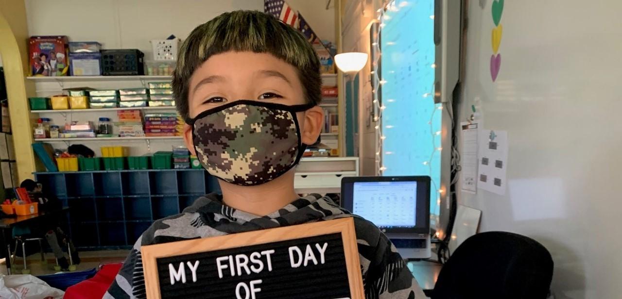 First grader in Plan A