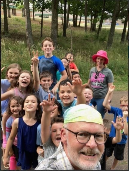 students on the nature trail