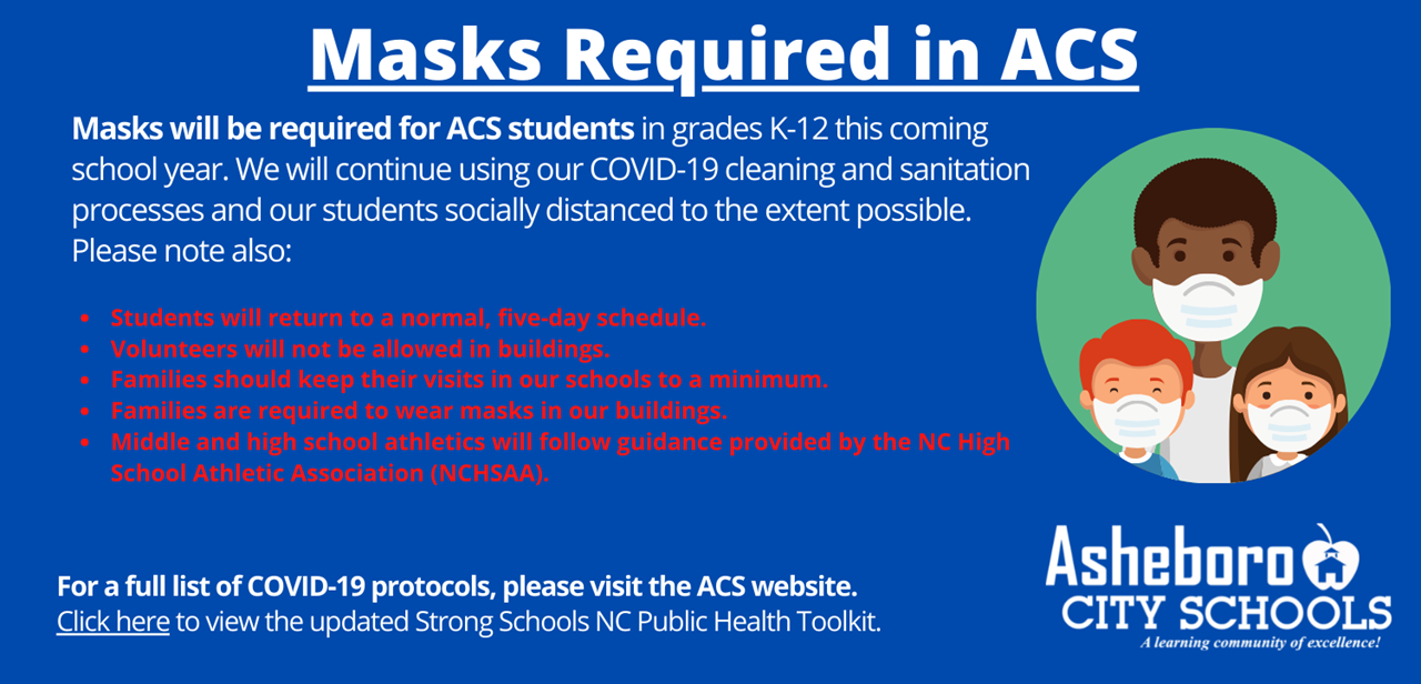 masks mandated in ACS